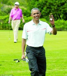 أوباما يقصي حفل زفاف ليلعب«الغولف» +صور