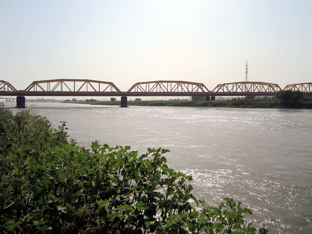 The White Nile Bridge crosses the river from Omdurman to Khartoum, Sudan. Photography from the bridge itself is strictly prohibited.