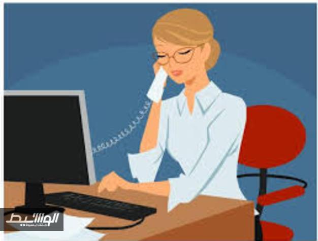 موظفة عاملة امرأة