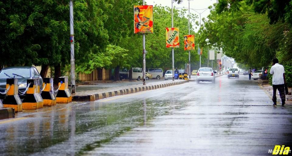 هطول امطار الخرطوم