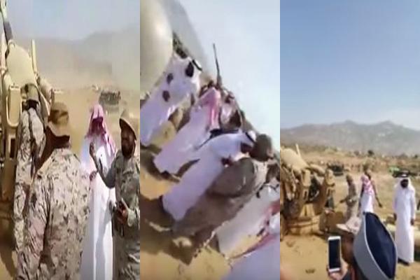 إمام الحرم يقصف مواقع