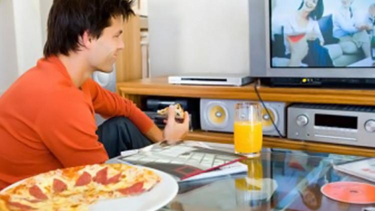 طعام تلفاز