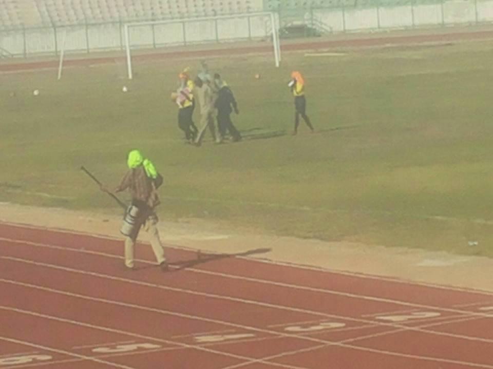 """""""النحل"""" يقتحم ملعب كادوقلي يهاجم اللاعبين ويتسبب في تأجيل مباراة الهلالين"""