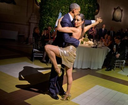 اوباما يرقص