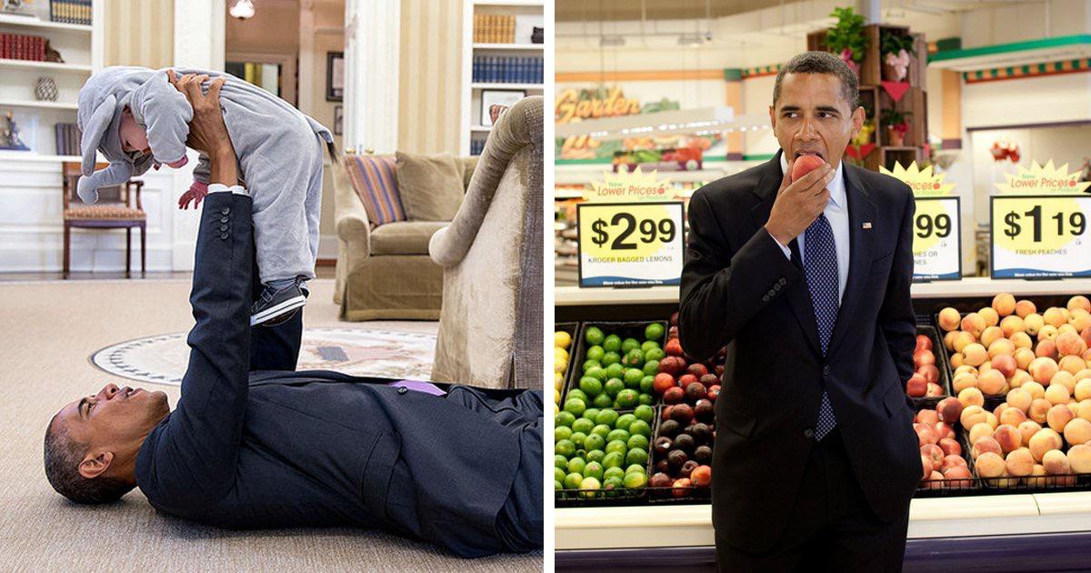 أوباما ومواقف إنسانية طريفة في صور2