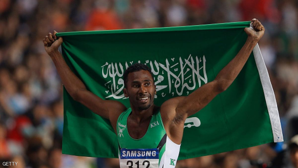 INCHEON, SOUTH KOREA - SEPTEMBER 28:  Yousef Ahmed Masrahi of Saudi Arabia celebrates winning the Men's 400m Final during day nine of the 2014 Asian Games at Incheon Asiad Main Stadium on September 28, 2014 in Incheon, South Korea.  (Photo by Lintao Zhang/Getty Images)