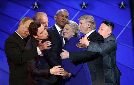 يف سخر نشطاء من أوباما وكلينتون4