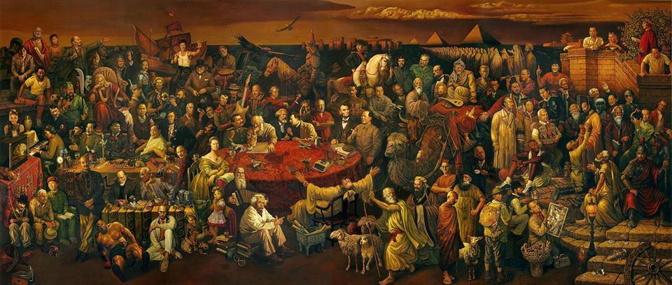 هذه اللوحة تضم 100 من المشاهير: هل تعرف أحدًا منهم؟