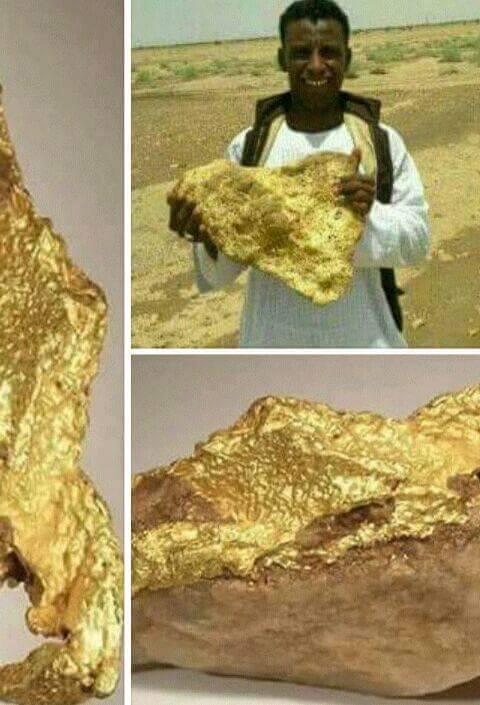 ما هي حقيقة عثور شاب سوداني على صخرة من الذهب تقدر بحوالي 440 مليار بمناطق التنقيب