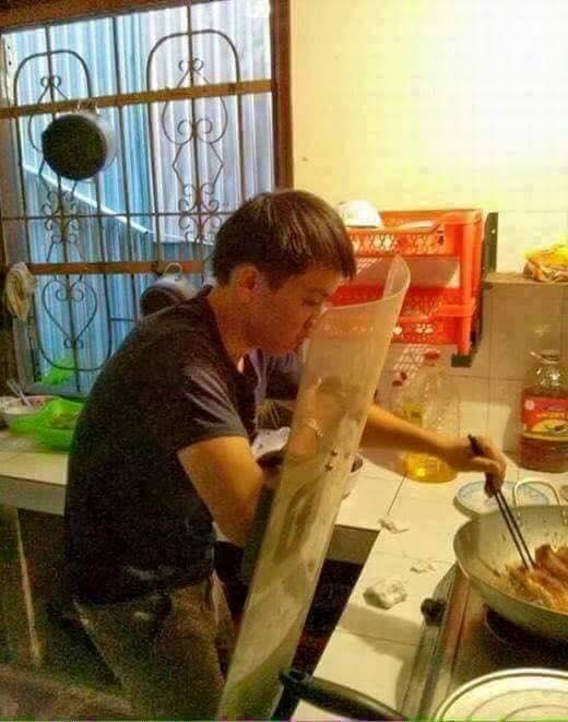 كوارث الرجال في المطبخ3