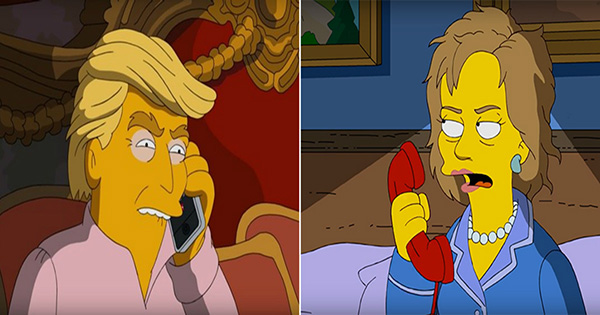 The Simpsons Characters Homer and Marge Discuss Hillary Clinton and Donald Trump in 3 A.M. Clip