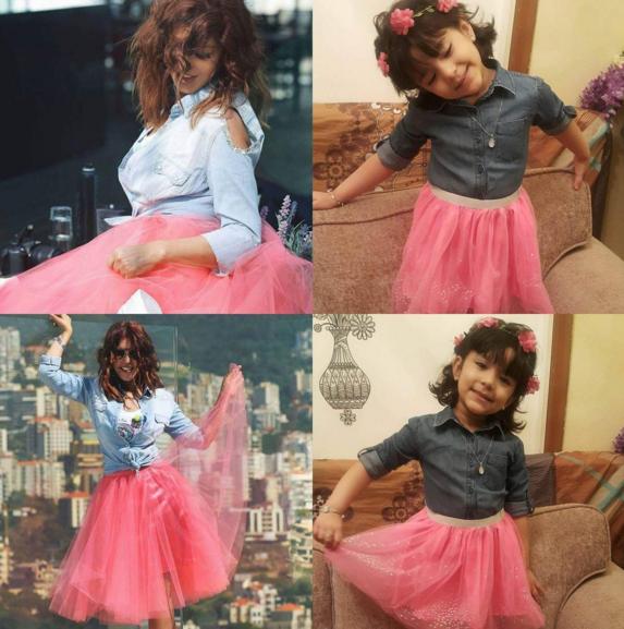 فتيات يُقلّدن سميرة سعيد في وقفتها وملابسها1