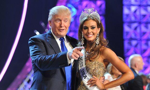 ترامب مع ملكة جمال امريكا