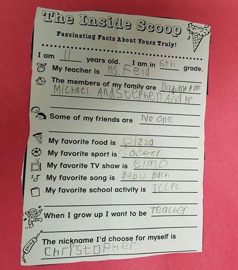 واجب منزلي لطفل مصاب بالتوحد يثير ضجة على الإنترنت