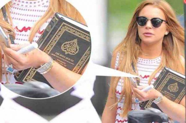 بعد حديثها عن تحولها للإسلام ليندسي لوهان ترتدي الحجاب