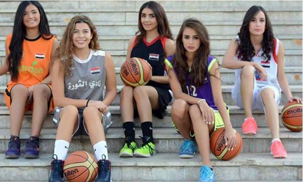 حملة ترويجية غير اعتيادية في سوريا لدوري كرة السلة للسيدات