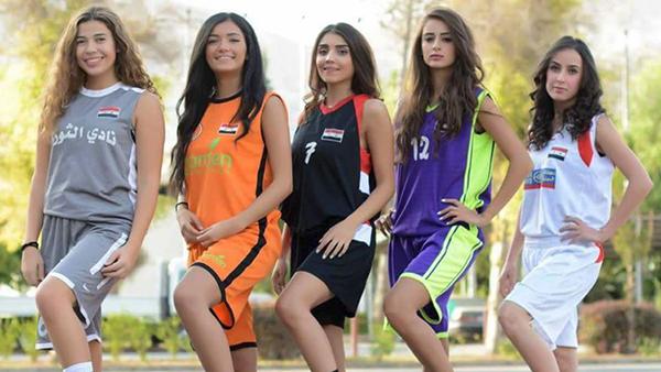 حملة ترويجية غير اعتيادية في سوريا لدوري كرة السلة للسيدات1