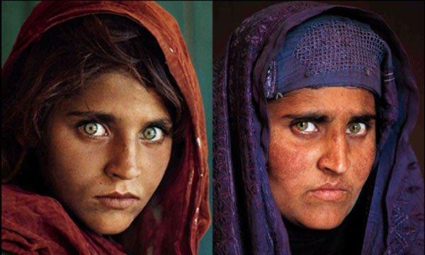 اعتقال فتاة ناشونال جيوغرافيك الأفغانية بباكستان