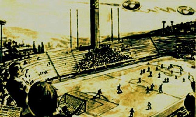 قصة الملعب الذي غزته الصحون الطائرة وشاهدها الجمهور واللاعبون