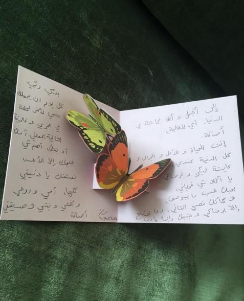 أحلام تتلقّى هدية من ابنتها فاطمة: «عملتها بإيدها»1