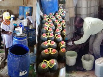 ضبط مصنع يستخدم مواد غير مطابقة لصناعة حلوى المولد وإغلاق مصنع زيوت طعام
