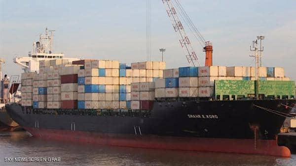 رصد سفينة إيرانية محملة بالأسلحة بالقرب من شواطئ مصراتة