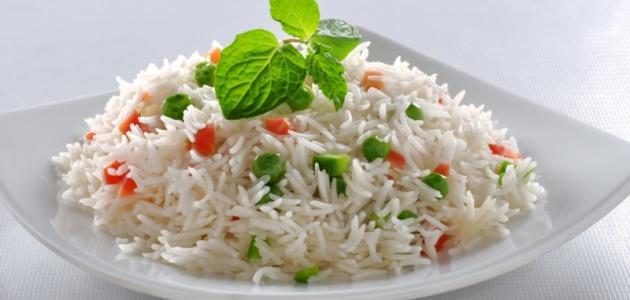 طريقة تقديم الأرز
