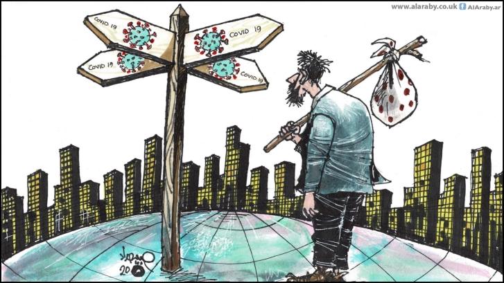 اللاجئون والكورونا