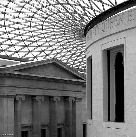مباني عريقة - المتحف البريطاني بلندن