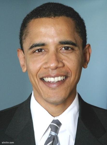 صورة الرئيس باراك حسين أوباما... رئيس الولايات المتحدة الأمريكية