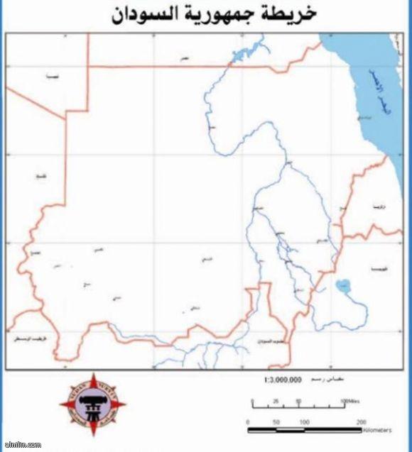 خريطة جمهورية السودان الجديد 2011م