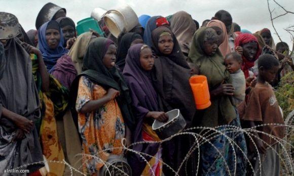 صفوف الغذاء في منطقة القرن الافريقي - جنوب الصومال 39-7-2011
