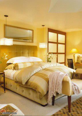 غرفة نوم بالون الاناناسي الهادئ الجميل