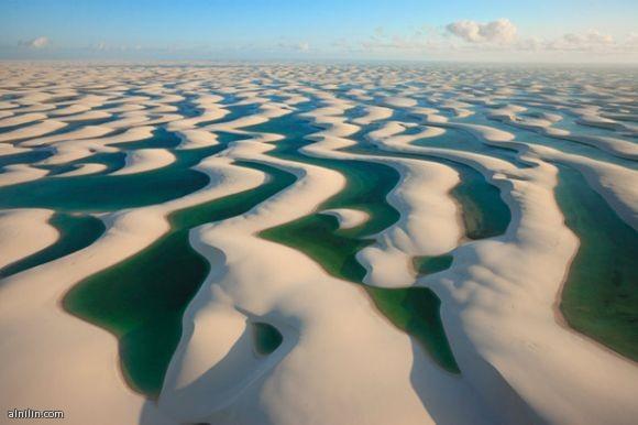 بحر من الكثبان الرملية - تكون بفعل الرياح والمياه في الساحل الشمالي الشرقي للبرازيل